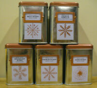 Bay Island Holiday Coffee Tins - Set of 5 Tins
