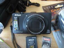 Nikon COOLPIX S9300 16.0MP Digital Camera - Black EXCELLENT CONDITION