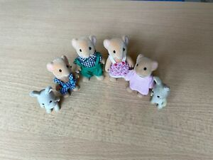 Slyvanian Family 4 Mice  and 2 baby bunnies used