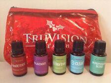 Truvision health essential oil tea tree, clear, lavender, peppermint, trudefense