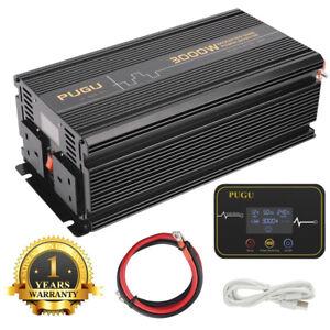 Power Inverter 3000W/6000W 12V to 240V Converter Softstart LCD Display UK Plugs