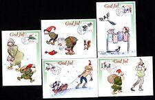 Sweden 2434/8 Maximum Cards Christmas, Weihnachtwichtel
