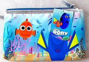 NEW! Disney Finding Dory Zipper Pouch Zip Bag Purse Blue Fish Nemo RARE CUTE
