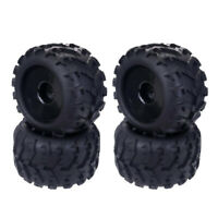 4 Piece Rubber RC 1/8 Tires & Wheel Rims for Redcat Hsp Kyosho Monster Truck