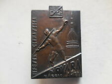 Italy Fascist badge gymnastics party Novara 1934 distintivo fascista