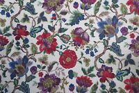 "SANDERSON CURTAIN FABRIC DESIGN ""Amanpuri"" 3 METRES  ORIGINAL CHINTZ 100% LINEN"