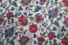 "Sanderson Curtain Fabric Design ""amanpuri"" 1 Metre Original Chintz 100 Linen"