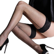 Fishnet Backseam Lace Top Hold Ups By Sentelegri ,Various Colours,Sizes S,M,L,XL