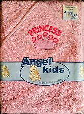 Baby Boys Girls 100% Cotton Pink  Princess Hooded Bath Robe Wrap Babies Towel