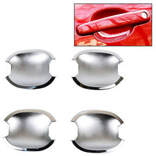 4PC/SET FOR PEUGEOT 307 CHROME DOOR HANDLE BOWL CAVITY TRIM MOLDING COVER 307CC