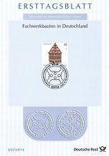 BRD 2012: Fachwerkbau in Dinkelbühl! Ersttagsblatt der Nr. 2970! 1A erhalten!