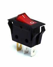 5pc RLEIL Rocker Switch RL1 RL1-5(W) 3P SPST 15A125V 7.5A250V O/I mark Red