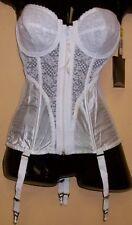 NWT Vintage LADY MARLENE White CORSET W/ GARTER BELT size - 34 D