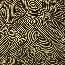 "DONGHIA BELMONTE CAFE BROWN ZEBRA ANIMAL VELVET MULTI USE FABRIC 3.25 YARDS 50""W"