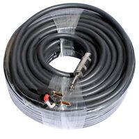 100 ft foot 12 GA GAUGE 1/4 to dual banana plug PA DJ pro audio speaker cable