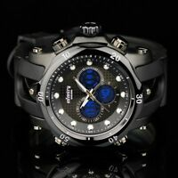 INFANTRY Mens Digital Analog Wrist Watch Police Style Sport Army Black Rubber
