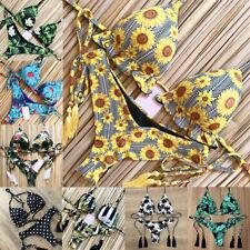 New Women's Bikini Set Floral Brazilian Swimwear Swimsuit Bathing Suit Beach Bra
