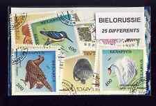 BIELORUSSIE - BELARUS collections de 25 et 50 timbres différents