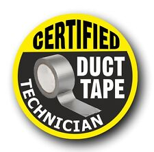 Funny Certified Duct Tape Technician car toolbox sticker Electrician Mechanic