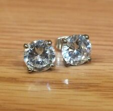Unbranded Large Faux Diamond Silver Tone Stud Style Women's Earrings **READ**