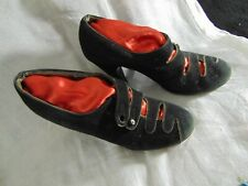 1930's Shoes- S- Black Suede,High Heel, Shoe Buttons- Chic Vintage