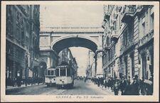 AX3601 Genova 1925 - Via XX Settembre animata - Tram in transito - Cartolina