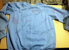 THIRTEEN RARE GENERAL HOSPITAL AUTOGRAPHS ON SIGNED SWEATSHIRT Luke & Laura + 11