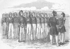 TURKEY. Turkish Infantry, antique print, 1853