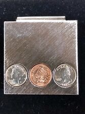 Replica Collector United States Coins Brushed Silver Money Clip with Miniature