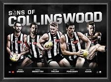 Collingwood Sons of the AFL Official Licensed Limited Edition Print Framed