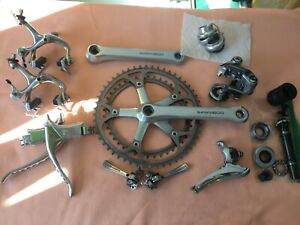 Vintage Shimano 600 Groupset (6207/6400) w/ BB & Headset - Superb cond late 80's