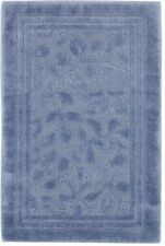 "24"" x 40"" Blue Bathroom Rug Nylon Stain Resistant Washable Rectangle Toilet Mat"