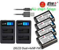 4xNP-FW50 Battery+Twin for Sony A7 II A7R A7S ILCE-6000 ILCE-7 ILCE-5100 AU-ship