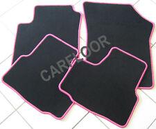 Lancia Musa Bj. ab 3.2005 Fußmatten Velours schwarz mit Rand pink