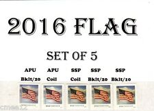 #5052, 5053, 5054, 5054a & 5055   2016 Flag set/5 -  MNH