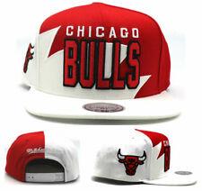 Chicago Bulls New Mitchell & Ness Sharktooth Red White Era Snapback Hat Cap