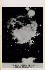 VTG Great Nebula in Orion McDonald Observatory Fort Davis TX RPPC Photo Postcard