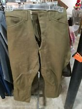 COMBAT Mens Army Green WWII Wool Pants Military Size 30 x 24