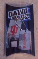 Indiana University Hoosie Dawg Tagz necklace key chain set collegiate Dog Tags