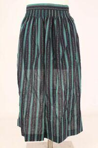 Dirndlschürze Trachtenschürze blau grün gestreift Baumwolle Gr. 2 vintage