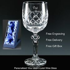 Personalised 10oz Cut Crystal Wine Glass Mother of The Groom Wedding Gift Favour