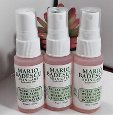 New Mario Badescu Facial Spray with Aloe Herbs Rosewater 1oz Each Travel Size X3