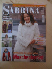 Handarbeitsheft, Strickheft Sabrina  Nr  10 2003