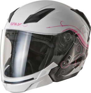 FLY Tourist Cirrus Modular Motorcycle Helmet (White/Pink) XS (X-Small)