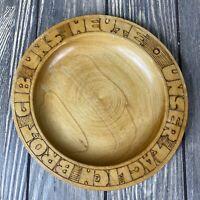 "Vintage Wooden Unser Taclich Brot Cib Uns Heute Plate 7"""