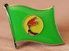 ZAIRE République du Zaïre Republic of Zaire Country Flag Metal Lapel Pin Badge