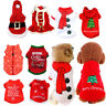 Pet Dog Puppy Red Santa Shirt Dress Christmas Clothes Costumes Warm Jacket Coat