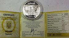 2002 Ukraine 10 Hryvnias Svyatoslav Silver Proof Commemorative Coin