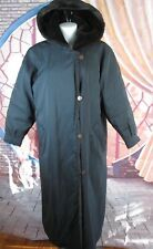 9f1c7d78007 Forecaster of Boston Black Long Coat Faux Fur Lined Jacket with Hood Size M