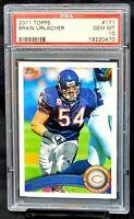 2011 Topps Bears HOF Star BRIAN URLACHER Football Card PSA 10 GEM MINT Pop 6